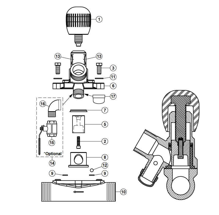 separate metering valve